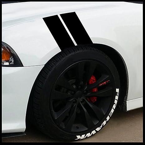 Fender stripes hash marks vinyl decal universal for car truck fender euro sticker racing stripe