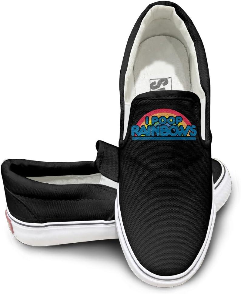 EWIED Unisex Classic Rainbow I Poop Rainbows 5 Slip-On Shoes Black