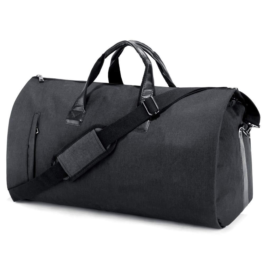 Bolsa Portatrajes de Viaje Portátil, Bolsa de Viaje Plegable Ideal para Negocios Hombres Mujeres, Bolsa de Deporte con Compartimentos para Zapatos y ...