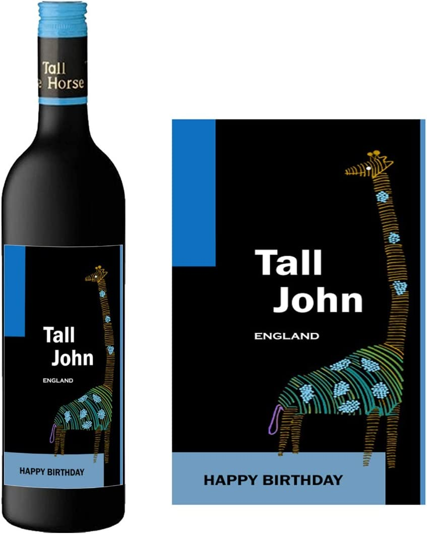 Personalised Bottle Label Birthday Christmas Friend Family Any Suitable for Bottle of Wine BL095