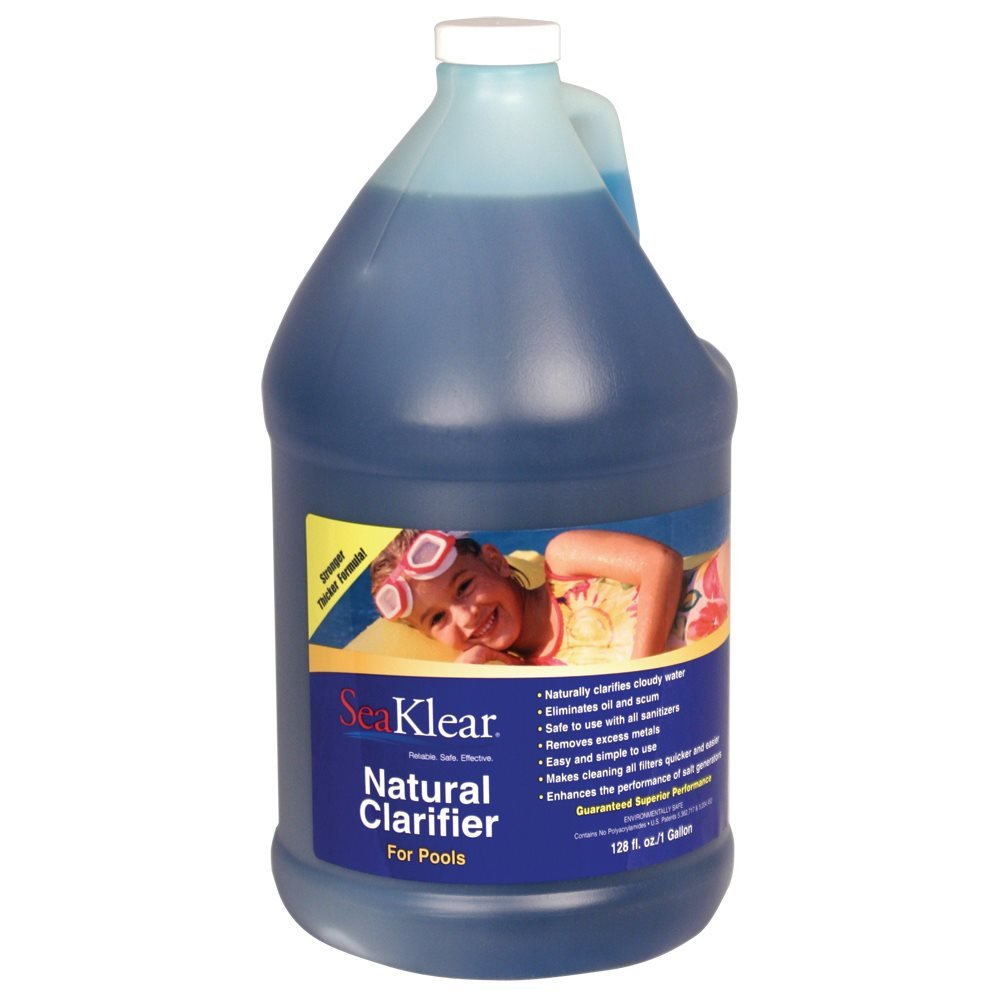SeaKlear WQA Certified Natural Clarifier for Pools, 1 Gallon Bottle