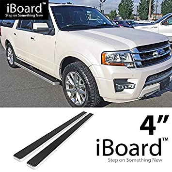 Eboard Running Boards Silver   Ford Expedition Sport Utility