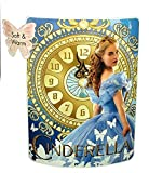 "Disney Cinderella 2015 Clock Strikes Super Plush Throw 46""x60"""