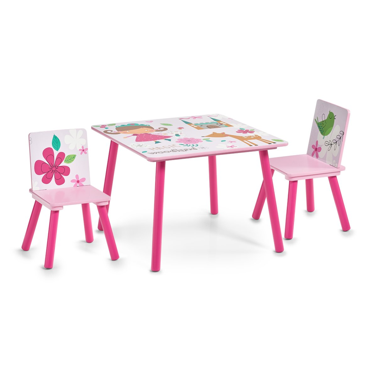 Zeller 13491 Kinder-Sitzgarnitur Girly, MDF, Dekor ZELNG