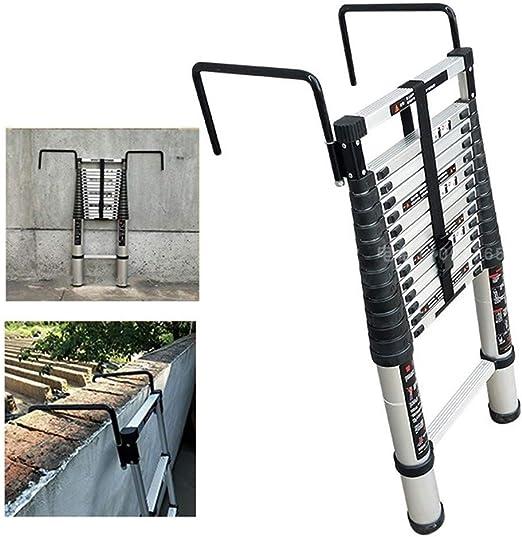 Escalera telescópica 5m / 6m / 7m / 8m Climb Home Builders Attic Loft Lugar de Trabajo Extensible Plegable, Carga 150kg (330 LB) (Size : 5.8m/19 ft): Amazon.es: Hogar