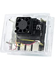 Acrylic Case/Cover with Dedicated Cooling Fan for Jetson Nano Developer Kit Dust Resistant