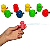 Mini Robot Water Gun 24 Pack - Assorted Colors Single Barrel Water Pistols Set of 24 | 2 Styles multicolor Miniature Squirt Gun Sand Beach Toy - Kids Party Favor Collection