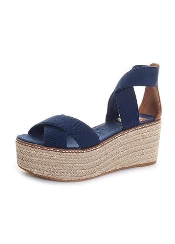 7567548ddd8 Amazon.com: Tory Burch Frieda Mid-Heel Espadrille Wedge Sandals in ...