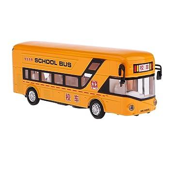Diecast Modelo Colección Escolar 50 Coche Juguete Autobús Vehículo Automotriz Automoóvil 1 Homyl Toys 19x5x7cm lJTF1Kc3