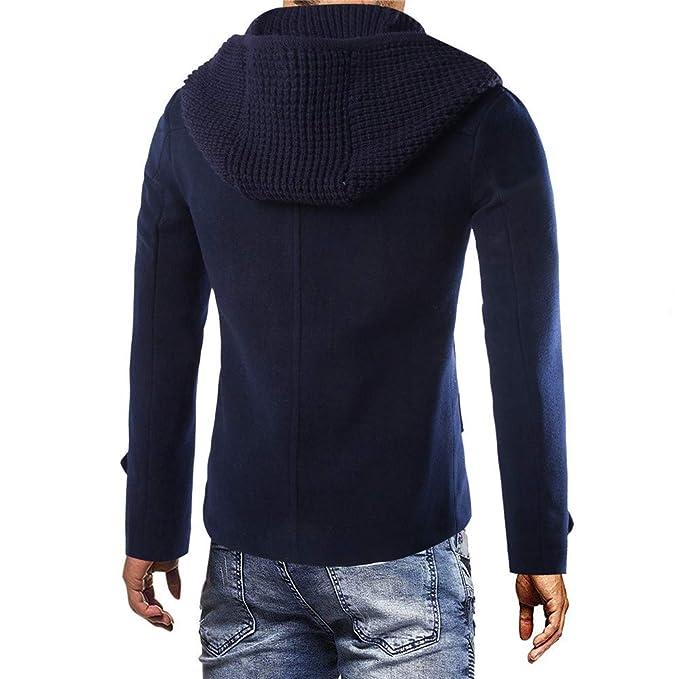 Chaqueta para Hombre Abrigo de Invierno cálido Botón Largo Outwear Elegante de Internet: Amazon.es: Ropa y accesorios