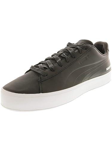 ba590c9e35a3fd Puma Men s Court Platform Blvck SCVLE Black Ankle-High Leather Fashion  Sneaker ...