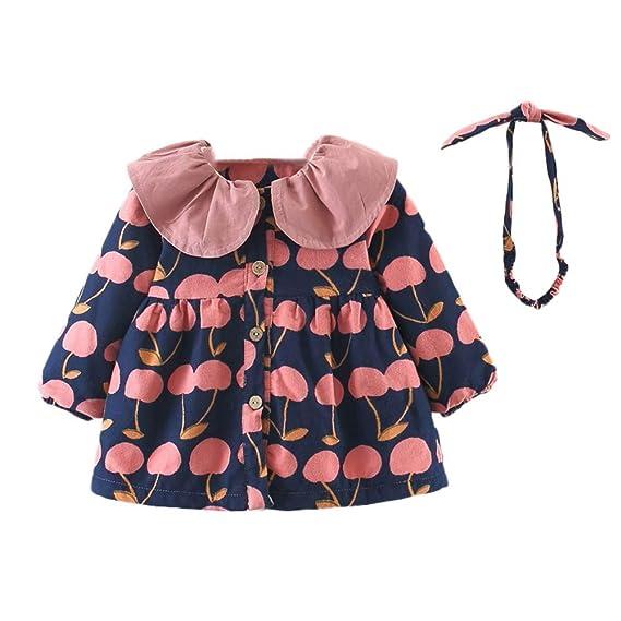 Vestidos niña otoño Invierno, ❤ Amlaiworld Vestido de Abrigo de Encaje con Estampado de árbol para niñas Bebé Recién Nacidos y Conjuntos de Diadema: ...