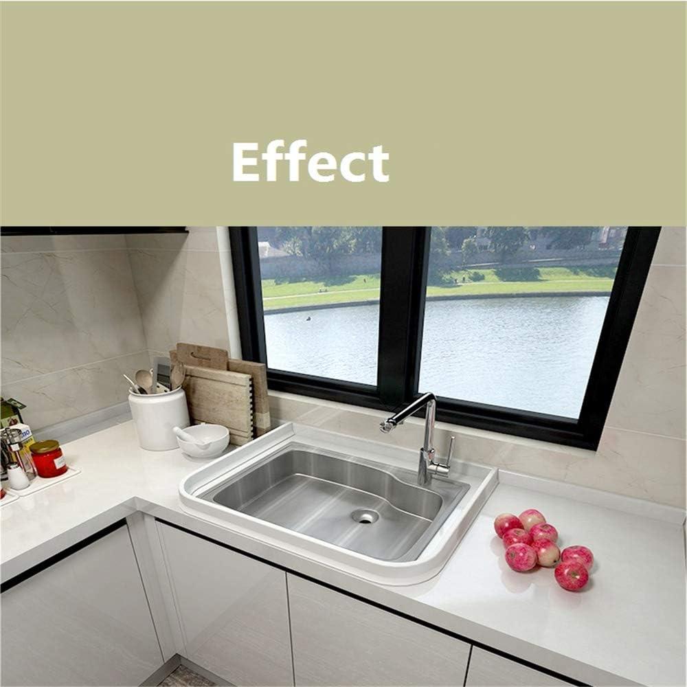 Bande de silicone barri/ère deau de salle de bains Joint d/écran de douche arr/êt flexible d/écoulement deau de salle de bains de silicone pour la s/éparation s/èche 80cm,blanc
