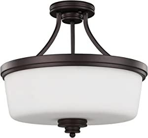Canarm ISF286A03ORB 3 Light Jackson SemiFlush Semi Flush Ceiling Light, Oil Rubbed Bronze