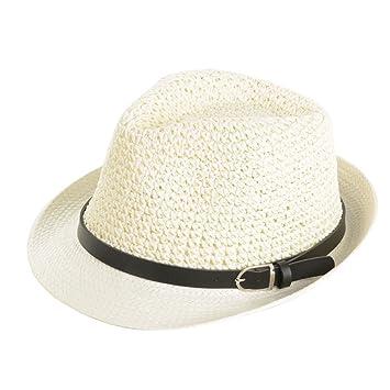 Sombrero de paja sol masculino de moda Hombre verano vacaciones al aire  libre vaquero sol sombrero 4585372714a