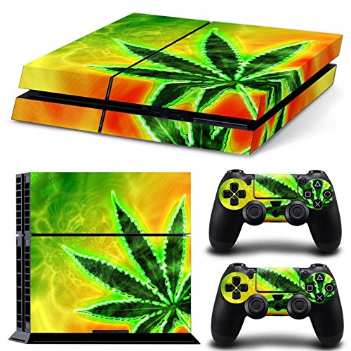 GoldenDeal PS4 Console and DualShock 4 Controller Skin Set - Weed Marijuana 420 - PlayStation 4 Vinyl