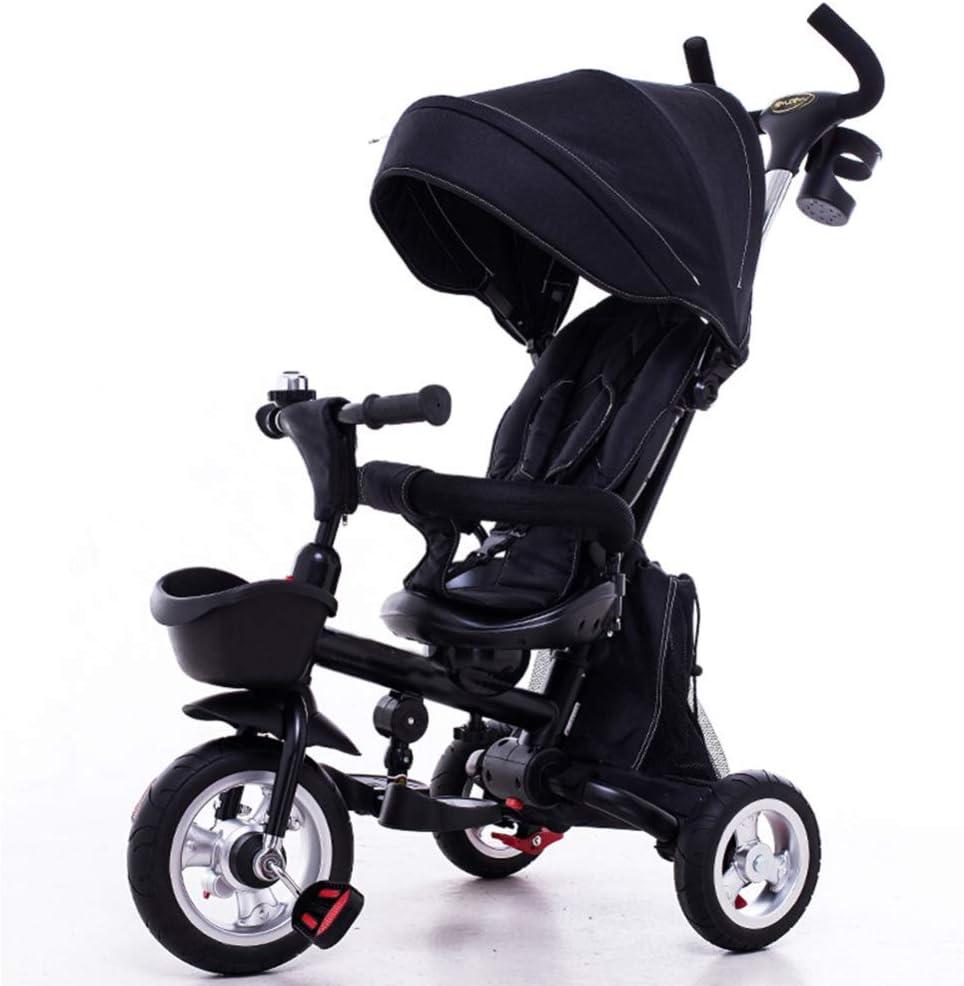 Hejok Triciclo para Niños De 1 A 3 Años, Triciclo Infantil Triciclo 1-3-6 Años Mi Primer Paseo Triciclo Infantil Bicicleta para Pedal para Exterior con Bocina