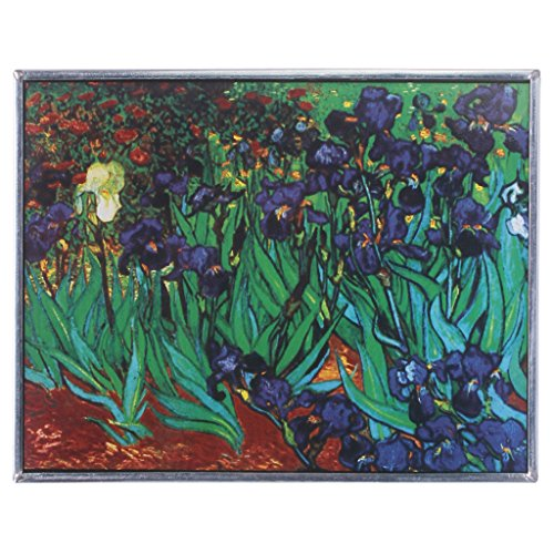 Stained Glass Panel - Van Gogh Irises Stained Glass Window Hangings - Window Treatments