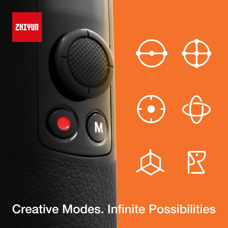 Gopro 7 6 5 Zhiyun Crane-M2 Handheld Estabilizador Gimbal de 3 Ejes Compatible con Smartphone iPhone Android 130 g-720 g Carga /útil Sony 6300,Conon M6,Panasonic Crane M Upgraded Version