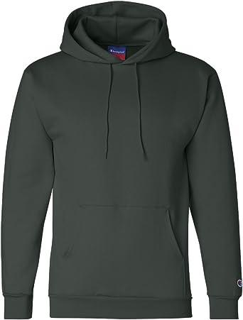 L 50//50 Full-Zip Hood Dark Green Champion 9 Oz