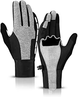 Myzixuan Riding Gloves with Velvet Thickened Warm Windproof Waterproof Touch Screen Outdoor Sports Skiing Anti-Skid Gloves