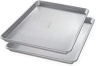 product image for USA Pan Bakeware Half Sheet Pan, Set of 2, Aluminized Steel