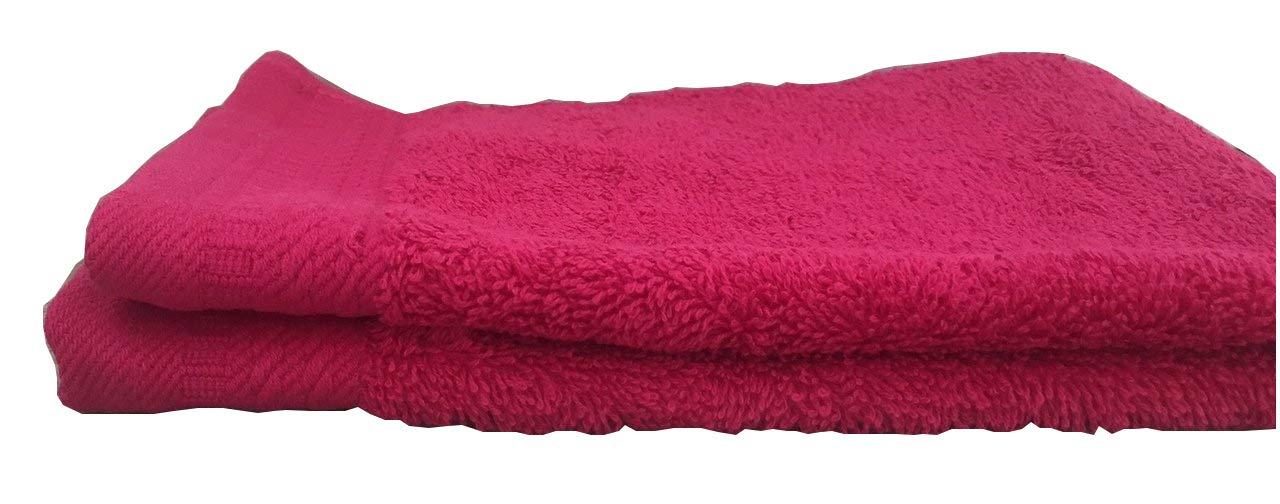 Ajuar Rizo - Toalla de Lavabo 600 gr. 100% algodón peinado color fucsia 50x100 cm: Amazon.es: Hogar