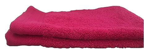 Ajuar Rizo - Toalla de Tocador 600 gr. 100% algodón peinado color fucsia 30x50