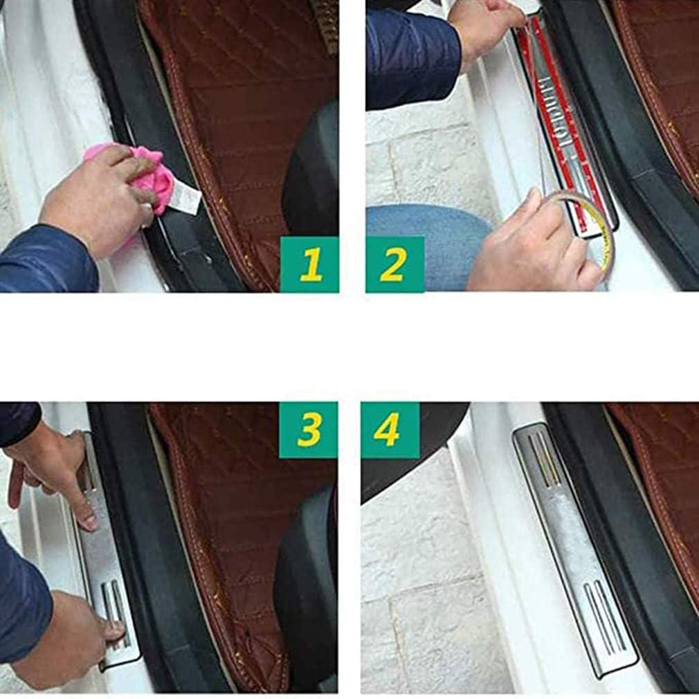 ZHAOQIAN 4 pi/èces en Acier Inoxydable Plaque de seuil de Porte de Voiture Garniture Bienvenue p/édale seuil Barre Couverture p/édale Autocollants pour Renault Kadjar 2015-2018