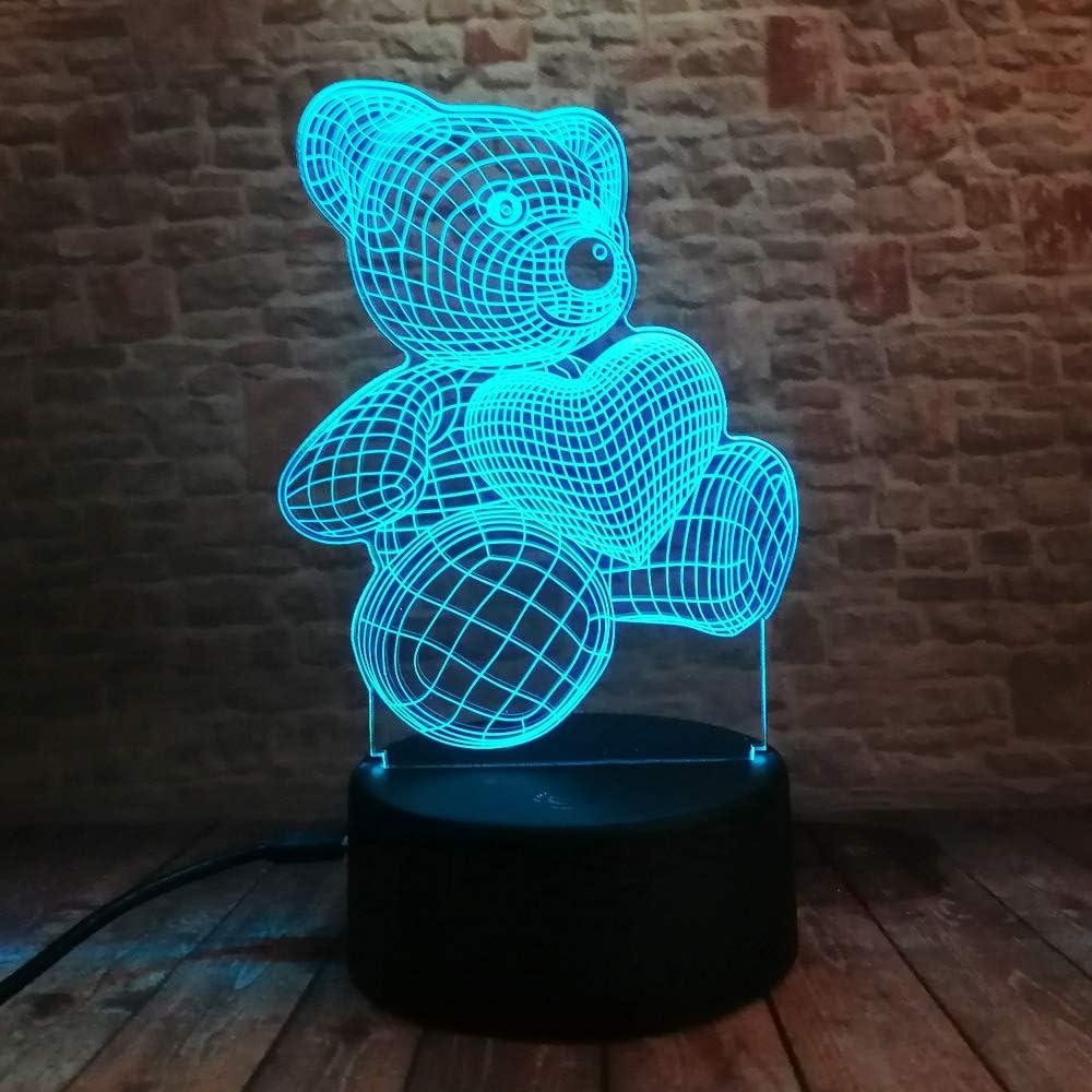 orangeww Lámpara de decoración de mesa de escritorio LED 3d / 7 ...
