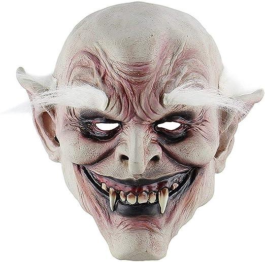 W&L Disfraz para Adultos Máscara Ceja Blanca Demonio de Halloween ...