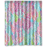 """POPcases Supplier Flawless Creative gorgeous retro Lilly Pulitzer Shower Curtain Shower 100% WaterProof Polyester Fabric 60"""" x 72"""" Inches Standard"""