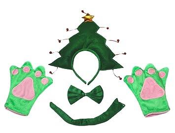 Petitebelle Guantes de la cola 3D del árbol de Navidad diadema ...