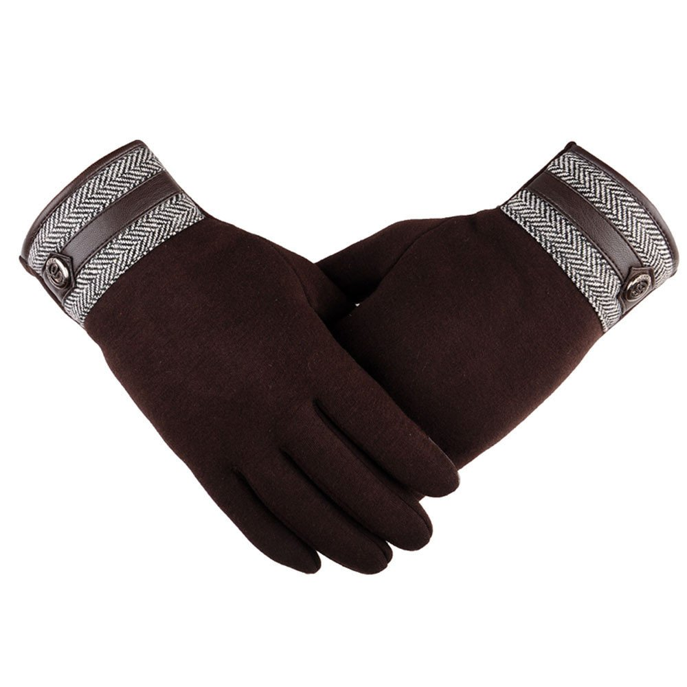 Clearance Sale, WUAI Men's Winter Warm Gloves with Touch Screen Motorcycle Ski Snow Snowboard Lightweight Gloves WUAI-mens gloves