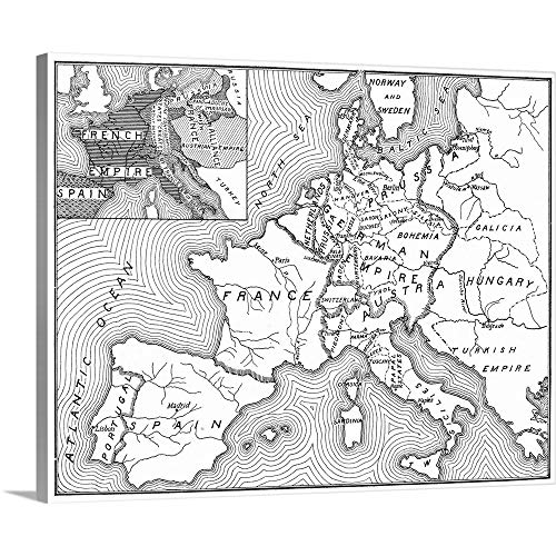 (Great Big Canvas Gallery-Wrapped Canvas Entitled Map of Europe, 1812-1815 20