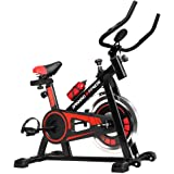 Spin Bike Exercise Bike 120KG Capacity w/Bottle & Drink Holder, Home Gym Fitness Machine Flywheel Indoor Cycling…
