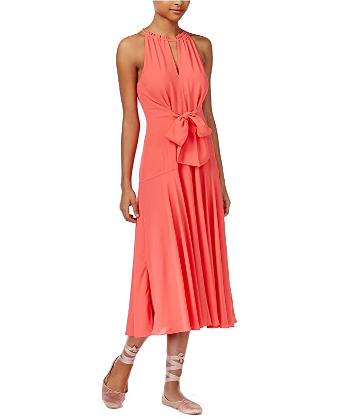 44e8cd1693f RACHEL Rachel Roy Womens Tie-Front Halter-Neck Party Dress at Amazon  Women's Clothing store: