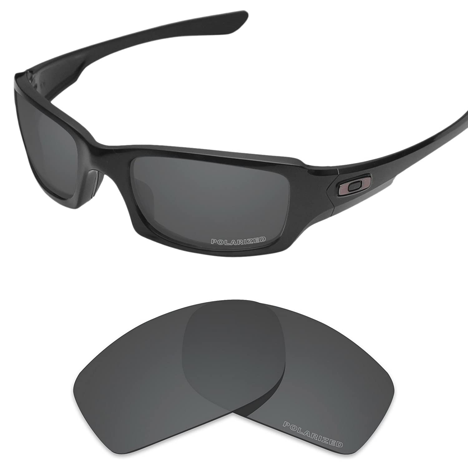 5784643d2c9 Amazon.com  Tintart Performance Lenses Compatible with Oakley Fives Squared  Polarized Etched-Carbon Black  Clothing