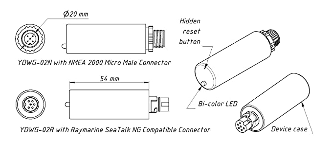 Yacht Devices Boat Barometer YDBC-05 for NMEA 2000 DeviceNet Networks or RayMarine SeaTalk NG