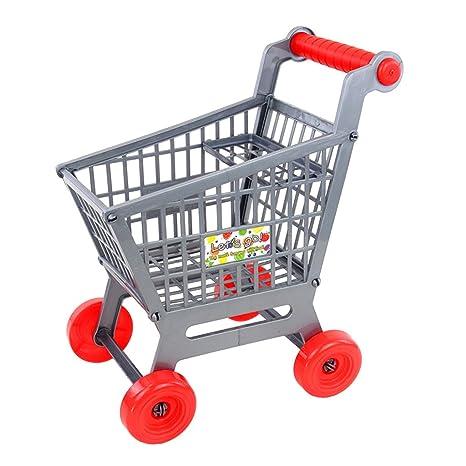 Sharplace Juguete Mini Carrito Carro de Compras de Supermercado en Miniatura Juguete Juego de rol para