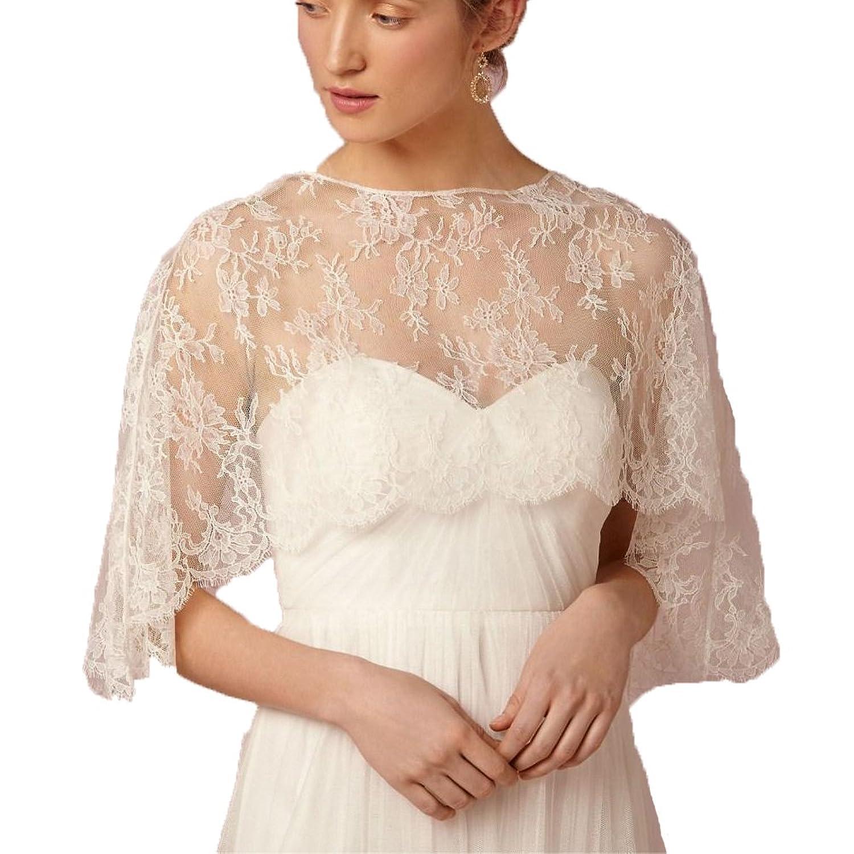 Auxico Neueste Bridal Wraps Short Brautkleid Schmuck Hals Spitze ...