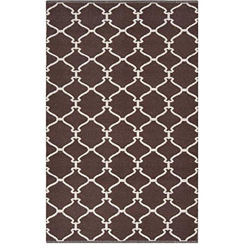 Surya Juniper JNP-5010 Flatweave Hand Woven 100% Wool Dark Chocolate 2' x 3' Global Accent ()