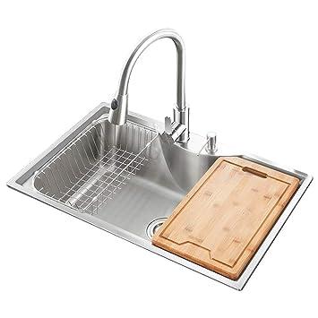 HomeLava Küchenspüle, aus gebürstetem #304 Edelstahl, mit ...