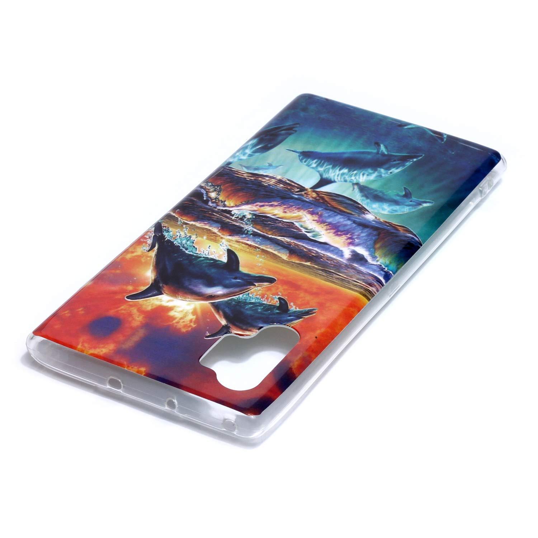WIWJ Compatible para Samsung Galaxy Note 10 Plus Funda Ultrafina Transparente Disney Tapa TPU Silicona Carcasas Waterproof Agua Case Delgado Antigolpes Resistente Cover 360 Protector Gafas Dientes