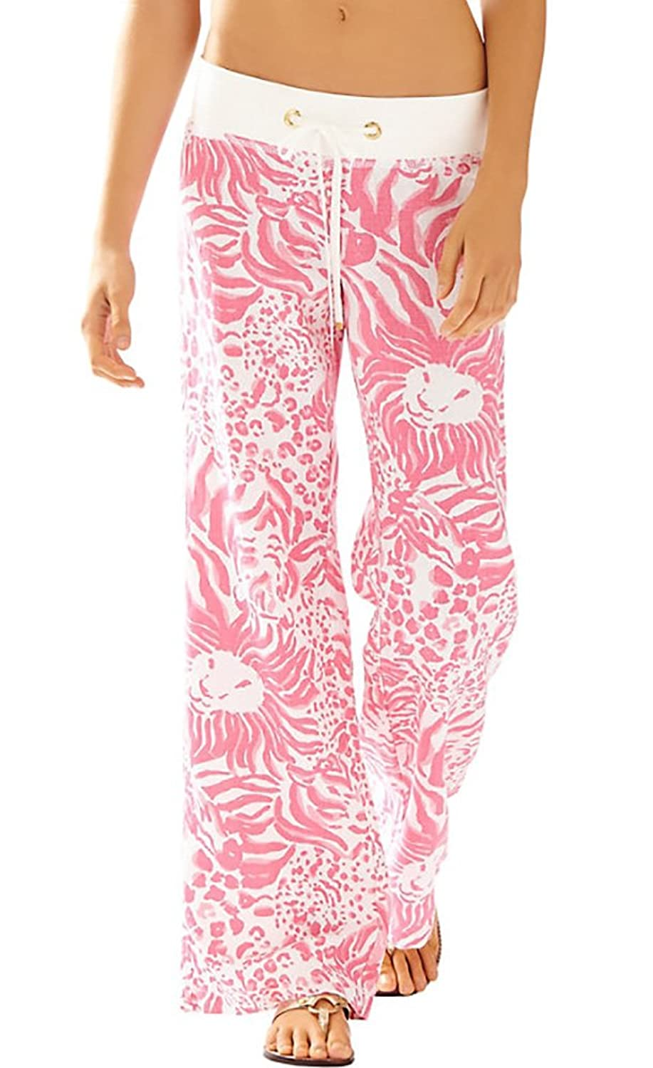 967a9e2849 Lilly Pulitzer Women's Linen Beach Pant, Resort White Get Spotted,XXS 30%OFF