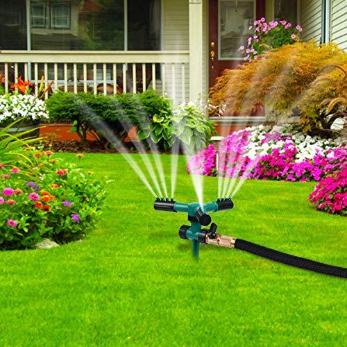 NiceFit Lawn Sprinkler, Automatic 360 Rotating Adjustable Garden Water Sprinklers Lawn Irrigation System