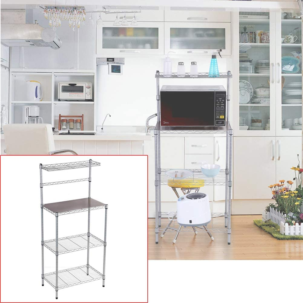 21.65 x 12.99 x 47.24 inch 3-Tier Home Kitchen Shelf Portable Removable Microwave Stand with Detachable Wheels for Microwave Oven Cooking Utensils AYNEFY Kitchen Storage Rack