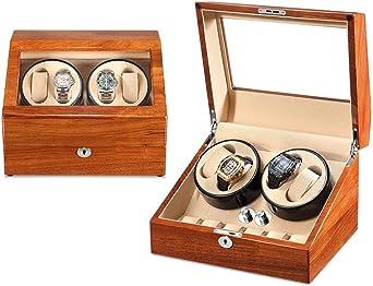 Premium Cajas Giratorias para Relojes Automatico Watch Winder, Madera Bobinadora para Relojes, Motor Silencioso, 4+6 Grande Vitrina (Color : B): Amazon.es: Relojes