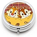 DISNEY COLLECTION Pill Case Chip and Dale Cute Waterproof Daily Medicine Personal Delicate Pill Box