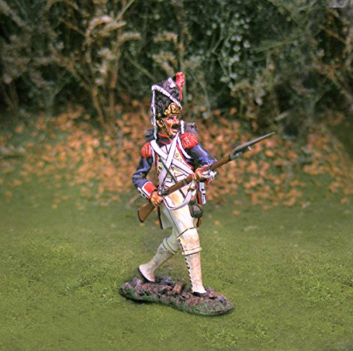 Napoleonic Toy Soldiers French Infantry Old Guard Advancing Collectors Showcase Toy Soldiers Painted Metal Figure CS00701 Britains King Country Type